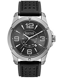 Men's Black and Gray Strap Watch 46mm