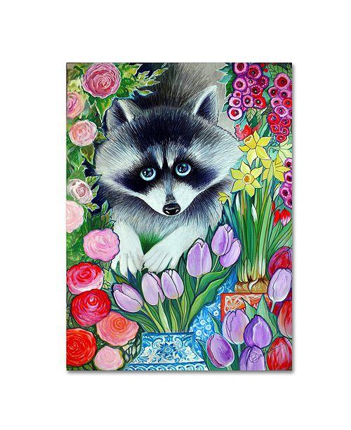 """Trademark Global Oxana Ziaka 'Raccoon' Canvas Art - 19"""" x 14"""" x 2"""""""