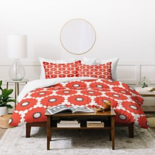 Deny Designs Holli Zollinger Coral Pop Twin Duvet Set