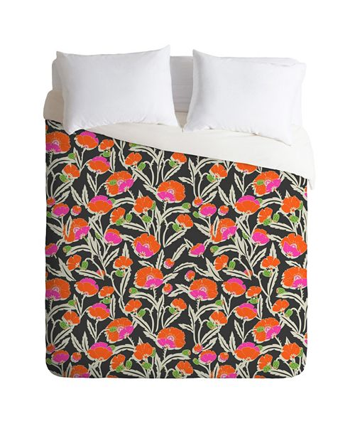 Deny Designs Holli Zollinger Zebrini Floral Queen Duvet Set