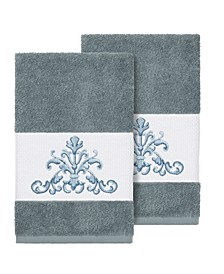 Scarlet 2-Pc. Embellished Hand Towel Set
