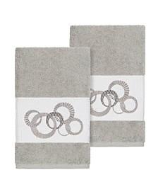 Linum Home Annabelle 2-Pc. Embellished Hand Towel Set
