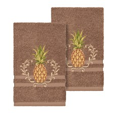Linum Home Welcome 2-Pc. Embellished Hand Towel Set