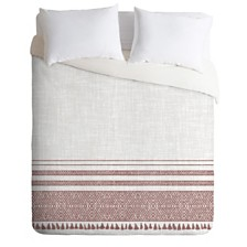 Deny Designs Holli Zollinger French Linen Sandstone Tassel King Duvet Set