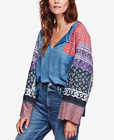 Free People Cotton Shibuya Printed Top