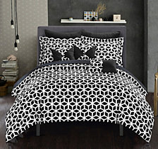 Chic Home Stefanie 10-Pc. Bed In a Bag Comforter Sets
