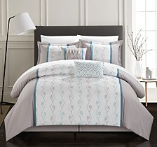 Chic Home Priston 6-Pc Queen Comforter Set
