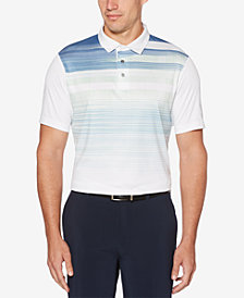 PGA TOUR Men's Performance Stretch Moisture-Wicking Active Ombré Stripe Polo