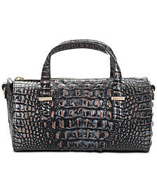 Brahmin Claire Melbourne Embossed Leather Barrel Bag