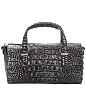 1dae2f9bfa9e Brahmin Claire Melbourne Embossed Leather Barrel Bag
