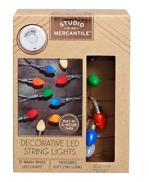 Studio Mercantile LED Novelty Vintage Bulbs 10ft String Lights