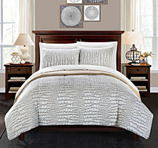 Chic Home Alligator 3-Pc Queen Comforter Set