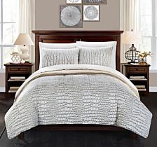 Chic Home Alligator 3-Pc Queen Comforter Set