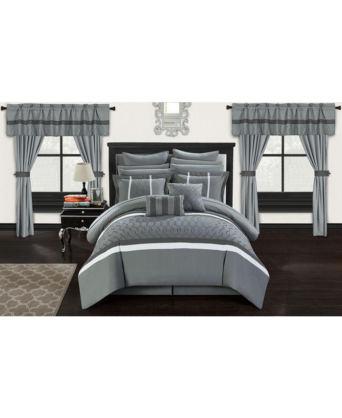 Chic Home - Dinah 24-Pc. King Bed In a Bag Comforter Set