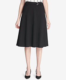 Calvin Klein Petite Belted A-Line Skirt