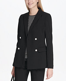 Calvin Klein Scuba Double-Breasted Jacket