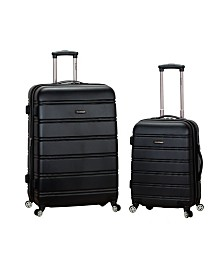 Rockland 2PCE Hardside Spinner Set
