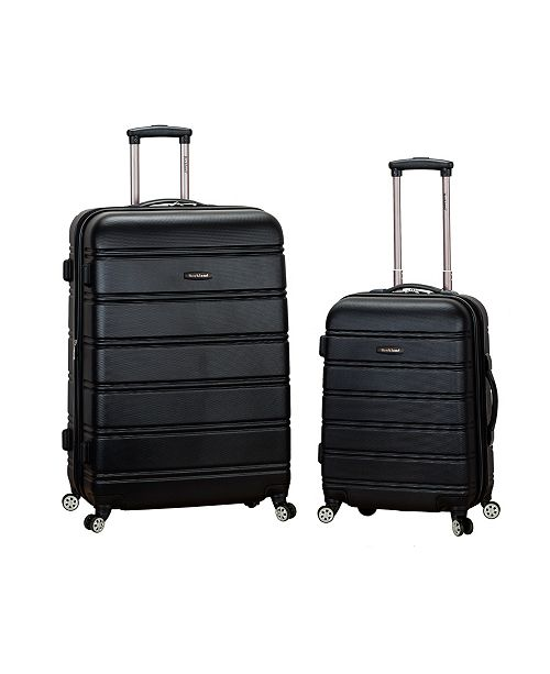 """Rockland 20"""", 28"""" 2-Piece Expandable ABS Spinner Set"""