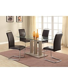 Bella Luna Modern Cantilever Side Chair With Handle (Set of 4)