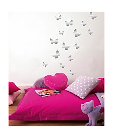 Butterfly Foil Wall Stickers Set Of 30