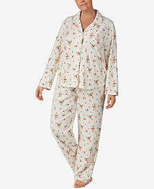 Lauren Ralph Lauren Plus Size Printed Fleece Pajama Set