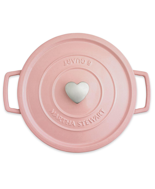 Pink cast iron dutch oven by Martha Stewart