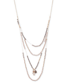 """lonna & lilly Gold-Tone Crystal Charm Beaded Removable Layer 28"""" Necklace"""