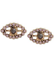 lonna & lilly Gold-Tone Crystal Evil Eye Stud Earrings