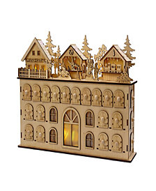 Kurt Adler 13-Inch LED Wooden Advent Calendar Decoration