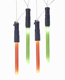 Kurt Adler Star Wars Light Sabers Battery Operated 40 Lights with 20 Light Sabers