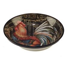 Certified International Gilded Rooster Serving/Pasta Bowl