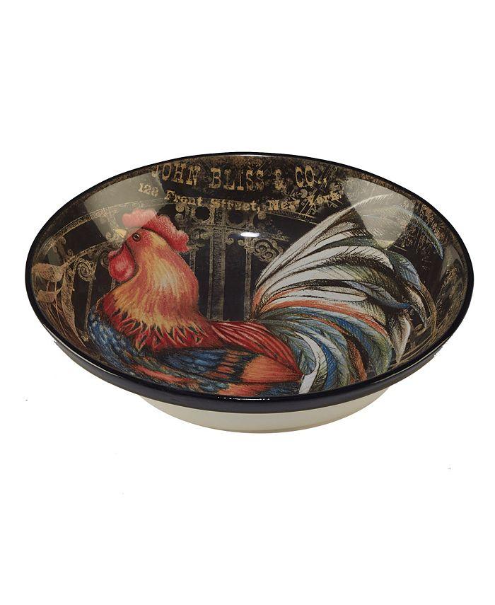 Certified International - Gilded Rooster Serving/Pasta Bowl