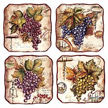 Certified International Vintners Journal 4-Pc. Dessert Plate