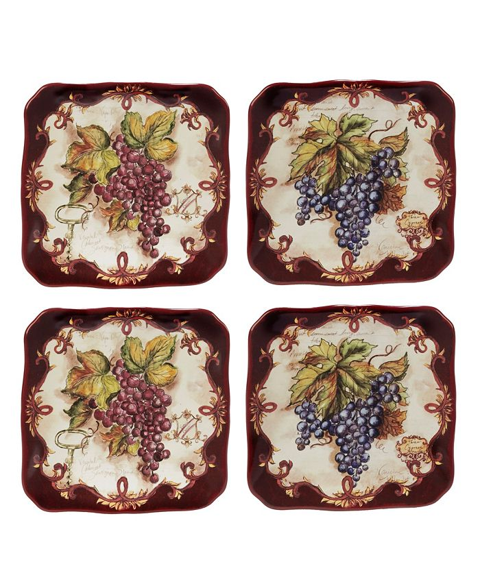 Certified International - Vintners Journal 4-Pc. Canape Plate
