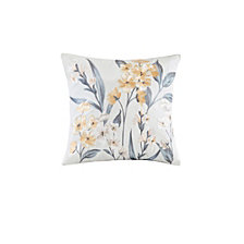 "Echo Design Venus 18""x18"" Embroidered Cotton Square Decorative Pillow"