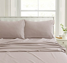 Heavyweight Flannel Solid Extra Deep Pocket Queen Sheet Set