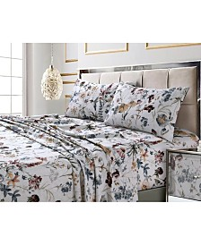 Amalfi Printed 300 TC Cotton Sateen Extra Deep Pocket Cal King Sheet Set