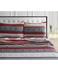 Alpine Knit 170-GSM Cotton Flannel Printed Extra Deep Pocket Twin XL Sheet Set