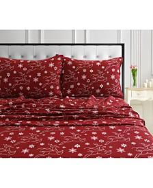 Dots & Deers 170-GSM Cotton Flannel Printed Extra Deep Pocket Queen Sheet Set