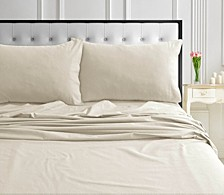 170-GSM Ultra-Soft Cotton Flannel Solid Extra Deep Pocket Full Sheet Set