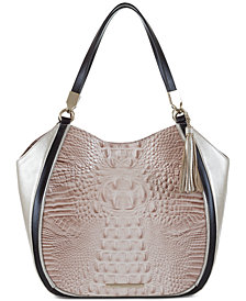 Brahmin Marianna Kendall Embossed Leather Tote