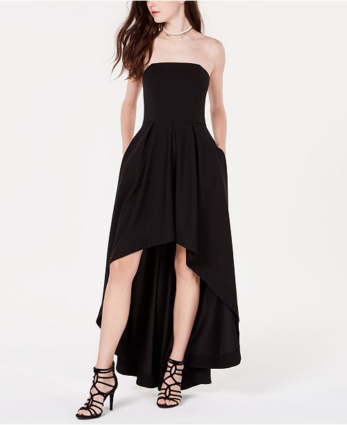 Speechless Juniors' Strapless High-Low Dress
