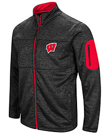 Colosseum Men's Wisconsin Badgers Glacier Full-Zip Jacket