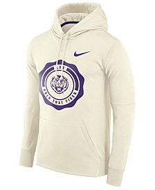 Nike Men's LSU Tigers Rivalry Therma Hooded Sweatshirt