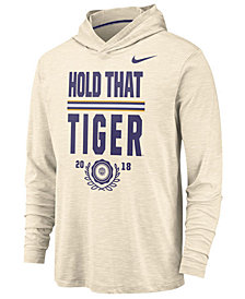 Nike Men's LSU Tigers Rivalry Long Sleeve Hooded T-Shirt
