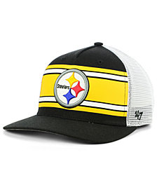 '47 Brand Pittsburgh Steelers Team Stripe MVP Cap