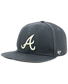 '47 Brand Atlanta Braves Garment Washed Navy Snapback Cap