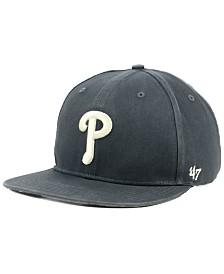 '47 Brand Philadelphia Phillies Garment Washed Navy Snapback Cap