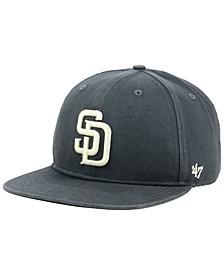 San Diego Padres Garment Washed Navy Snapback Cap