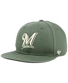 '47 Brand Milwaukee Brewers Moss Snapback Cap